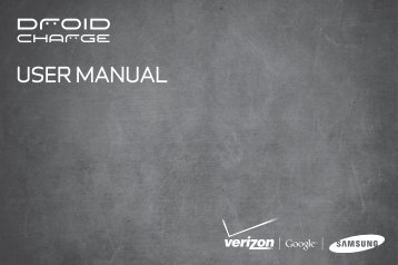 Samsung Droid Charge User Manual - Compare Cellular