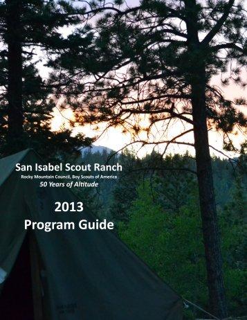 2013 Program Guide - Rocky Mountain Council