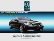 2012 ARMORED MERCEDES-BENZ S550 - Alpine Armoring Inc.