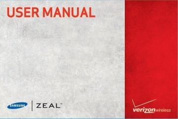 Samsung Zeal User Manual - Verizon Wireless