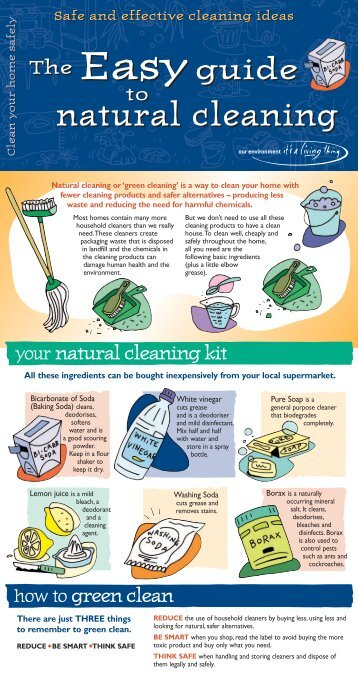 Easy Guide to Natural Cleaning - English - (Sept ... - It's a Living Thing