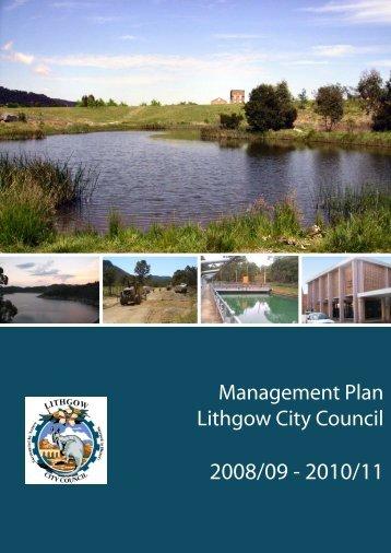 Management Plan 08/09 - Lithgow City Council