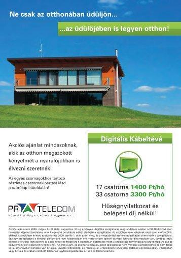 az üdülôjében is legyen otthon! - PR-Telecom