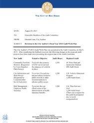 FY14 - Revised Audit Work Plan - City of San Diego