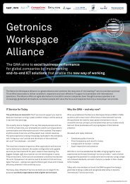 GWA brochure October 2012 - Getronics Workspace Alliance