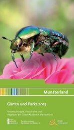 Kalender Gärten und Parks im Münsterland  2015