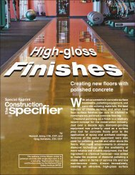 Creating new floors with polished concrete - Butterfield Color