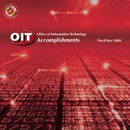 OIT Accomplishments Fiscal Year 2008 - Office of Information ...