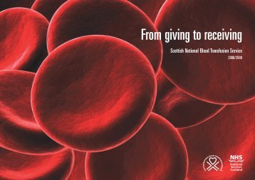 pdf Annual Report 2008-2009 - Scottish National Blood Transfusion ...