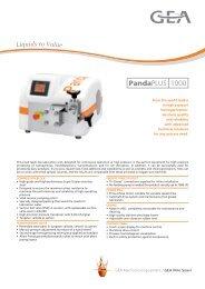 Brochure GEA Niro Soavi PandaPlus 1000