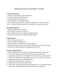 SOME QUESTIONS TO ASK ABOUT CULTURE Concrete ...