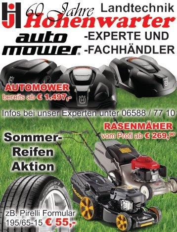 Sommer- Reifen Aktion