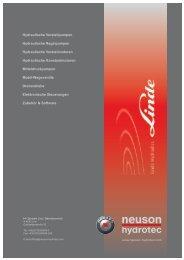 Linde Axialkolbenpumpen und Motoren - neuson hydrotec GmbH