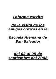 Informe de los Peers en Español - Escuela Alemana