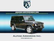 ARMORED MERCEDES-BENZ G550 - Alpine Armoring Inc.