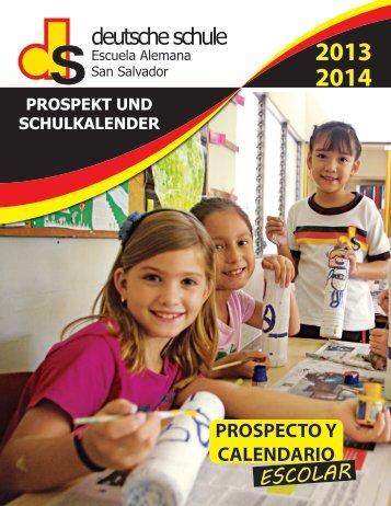Prospecto año escolar 2013/14 - Escuela Alemana