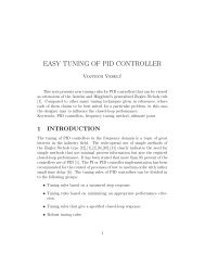 EASY TUNING OF PID CONTROLLER