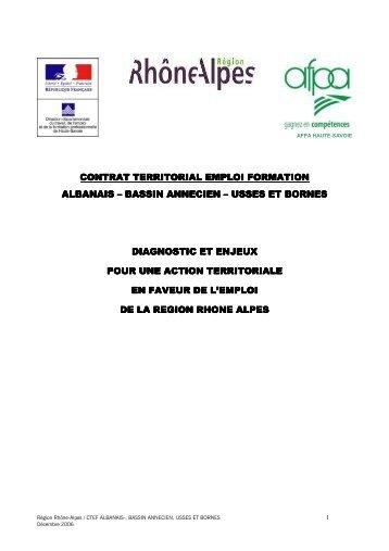 Diagnostic bassin annecien - Région Rhône-Alpes