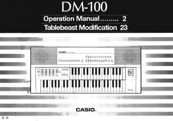 Casio DM-100 Owner's Manual - Casio SK-1