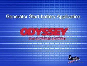 Generator Start-battery Application - Enersystem