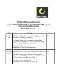 Schedule of Meetings - Sept 2012 - Ramtuc