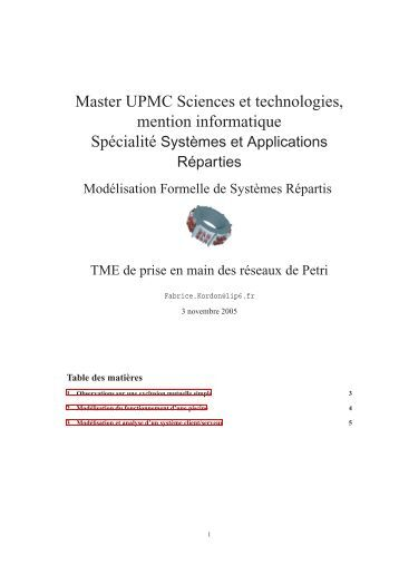Master UPMC Sciences et technologies, mention informatique