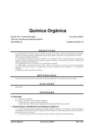 Química Orgânica (Bolonha)