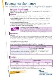 Recruter en alternance 2012 - avantage Financier et fiscaux