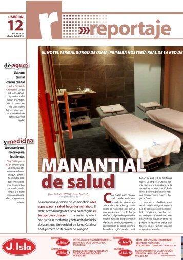 El Mirón Abril 2010 - Castilla Termal Hoteles