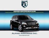 ARMORED MERCEDES-BENZ ML550 - Alpine Armoring Inc.