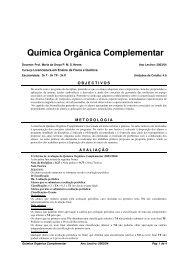 Química Orgânica Complementar
