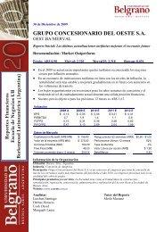 Grupo Concesionario del Oeste - Tulane Burkenroad Reports Latin ...