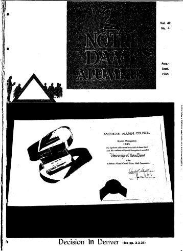 ALUMNI STAR IN '64 COMMENCEMENT THE UNr\'ERSrn'