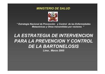 la estrategia de intervencion para la prevencion y control de la ...