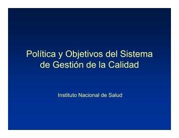 Política y Objetivos del Sistema de Gestión de la Calidad - Instituto ...