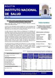 Índice temático - Instituto Nacional de Salud