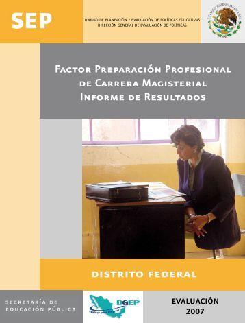 distrito federal - Dirección General de Evaluación de Políticas