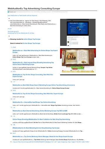 #WebAuditor.Eu Best Online Marketing for Web-Dropshipping
