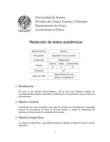 9153 - Licenciatura en Física - Universidad de Sonora