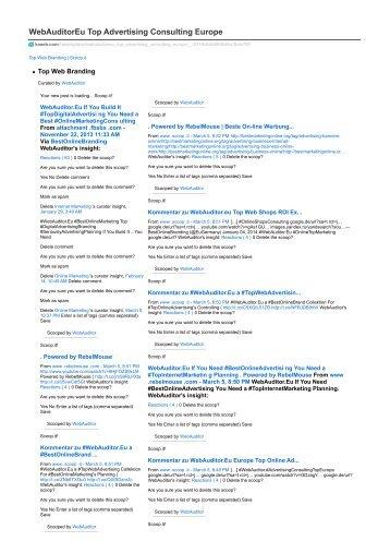 #WebAuditor.Eu #BestInternetMarketing Consulting for Online Management