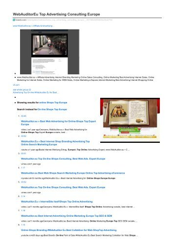 #WebAuditor.Eu Best Online Marketing for Web-Shops Consulting Europe