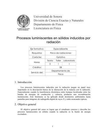 9831 - Licenciatura en Física - Universidad de Sonora
