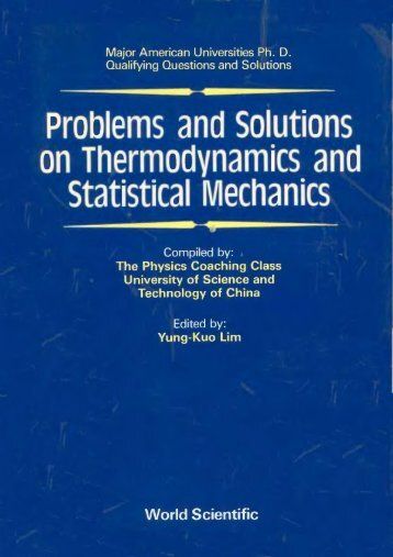Problems and Solutions on Thermodynamics and Statistical ...