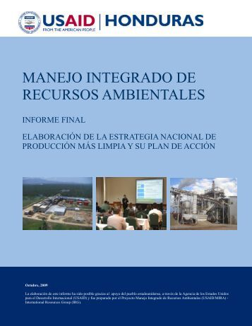 Estrategia Nacional de P+L 22-10-2009 EAI V_2 - Honduras Si ...