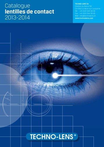 Catalogue lentilles de contact 2013-2014 - techno-lens sa