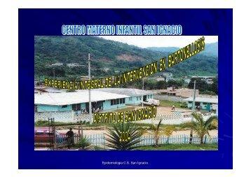 Epidemiologia C.S. San Ignacio