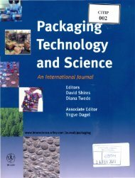 Packaging Technology and Science An International Journal