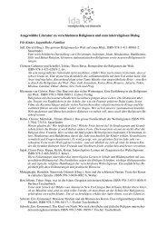 Literatur zum Thema - IDA