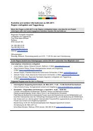 Kontakte und weitere Informationen zu IDA 2011 Region Linthgebiet ...
