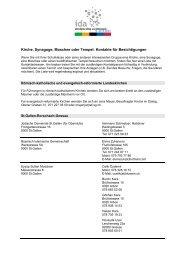 Kontakte für Besichtigungen - IDA